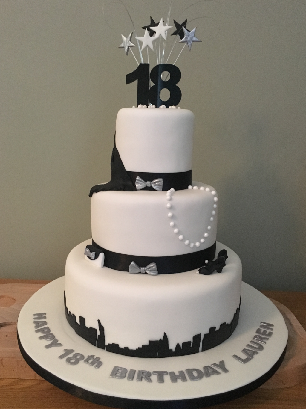Cityscape-dresses-and-jewellery-18th-birthday-cake