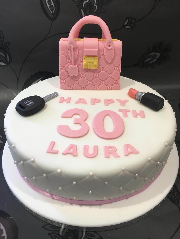 Handbag-topper-cake