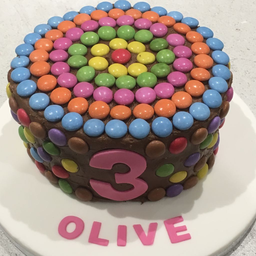 Smarties-birthday-cake
