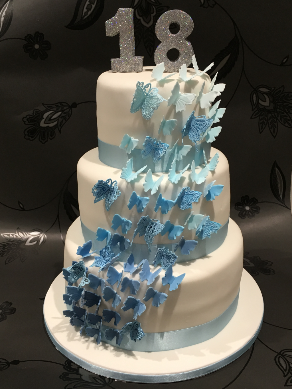 Three-tier-butterfly-cake