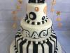 Black-white-and-gold-three-tier-cake