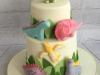 Dinosaur-fondant-two-teir-cake