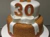 Gold-sprinkles-letter-cake