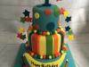 Multicoloured-first-birthday-cake