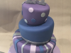 Topsy-turvy-purple-and-silver-cake