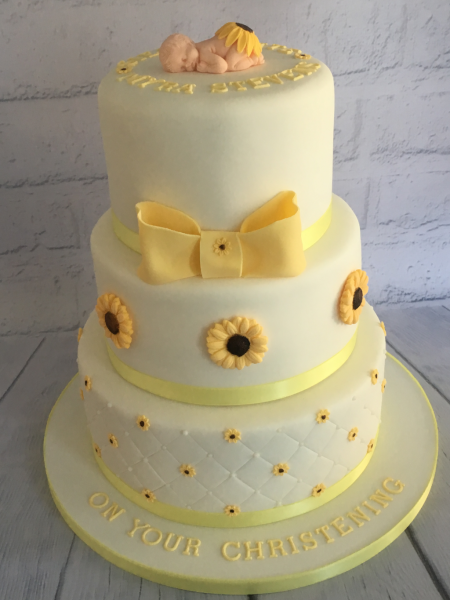 Sunflower-Christening-cake