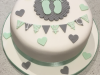 Bunting-and-footprint-baby-shower-cake