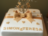 Golden-wedding-anniversary-cake
