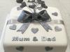 Silver-wedding-anniversary-cake