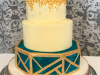 Geometric-hexagonal-wedding-cake