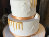 Harry-Potter-themed-gold-and-white-wedding-cake