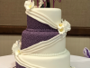 Purple-and-White-Swag-Wedding-Cake