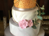 Sequins-and-flower-hoop-wedding-cake