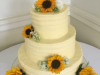 Sunflower-buttercream-wedding-cake